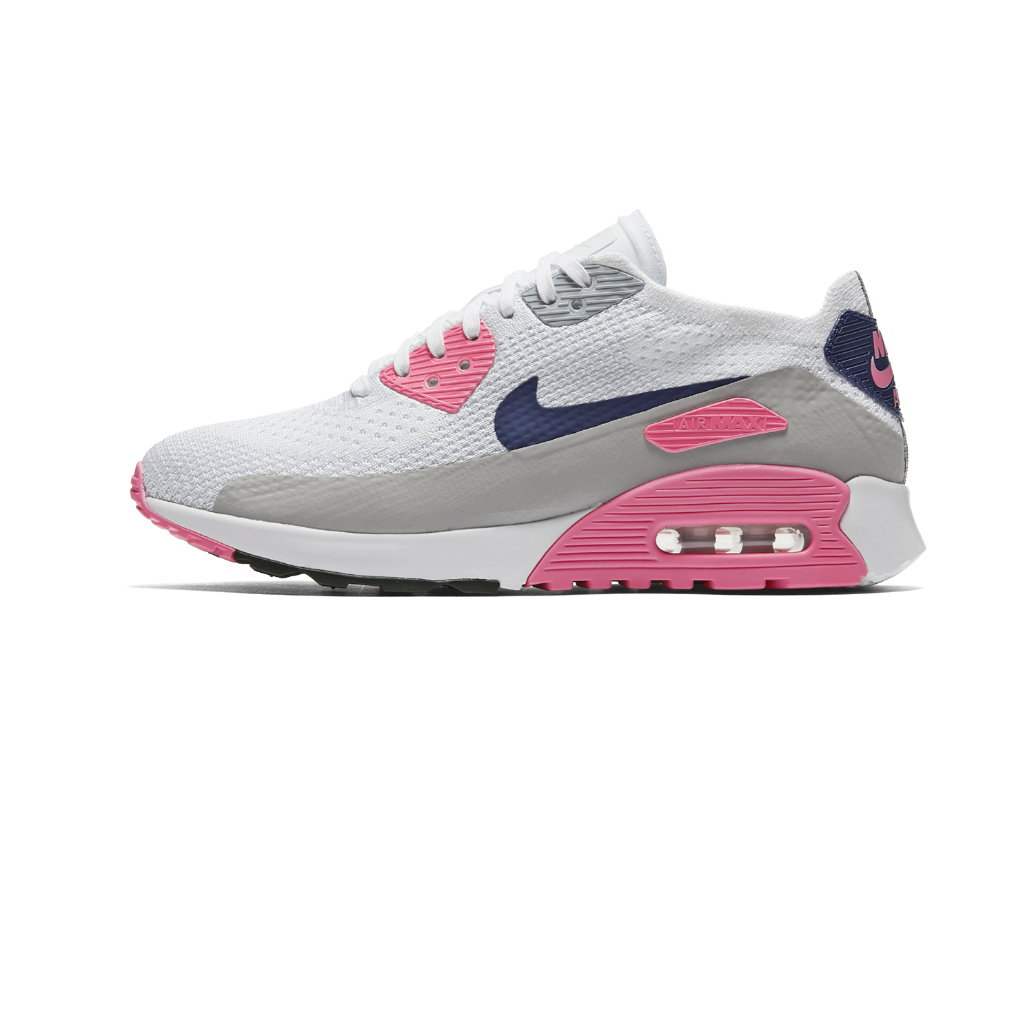 best service 72a55 75bf3 Nike Air Max 90 Ultra 2.0 Flyknit white concord/laser pink - Woman |  Holypopstore.com