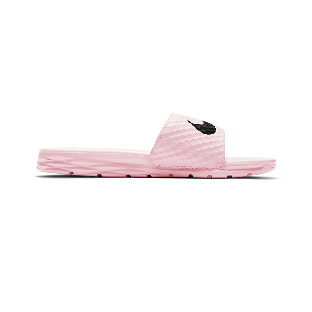 ... benassi solarsoft slide sandal prism pink black