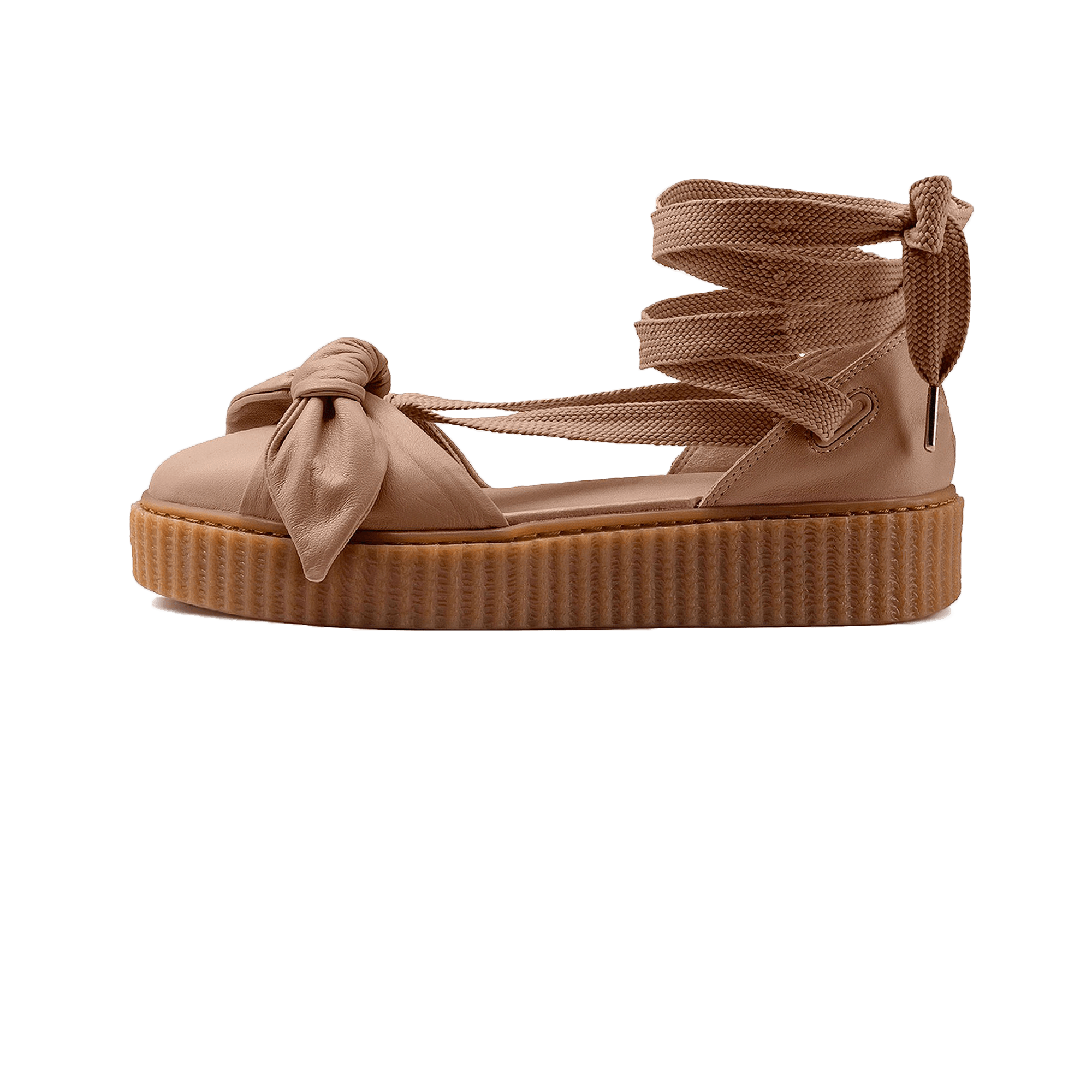 acbad4e5a1d Puma Fenty by Rihanna Bow Creeper Sandal brown gum - Woman ...