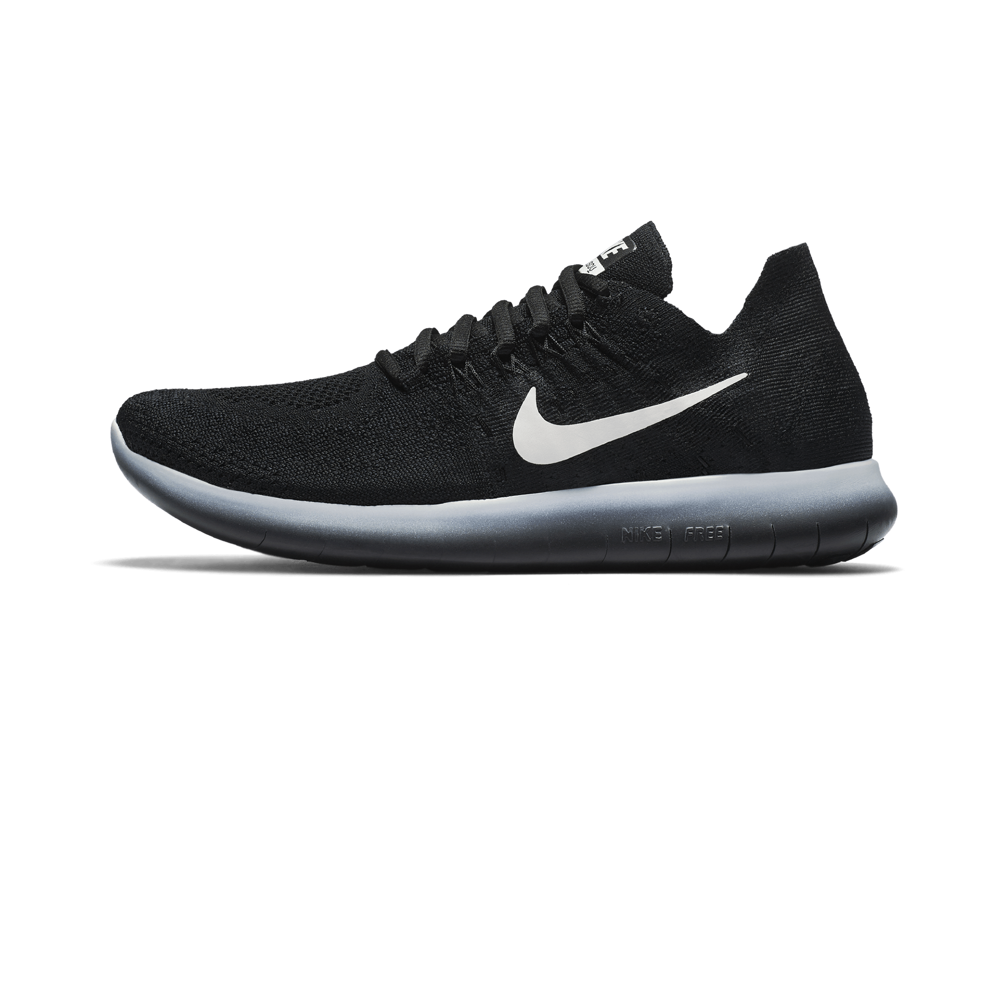 nike free rn flyknit 2017 black and white shelby
