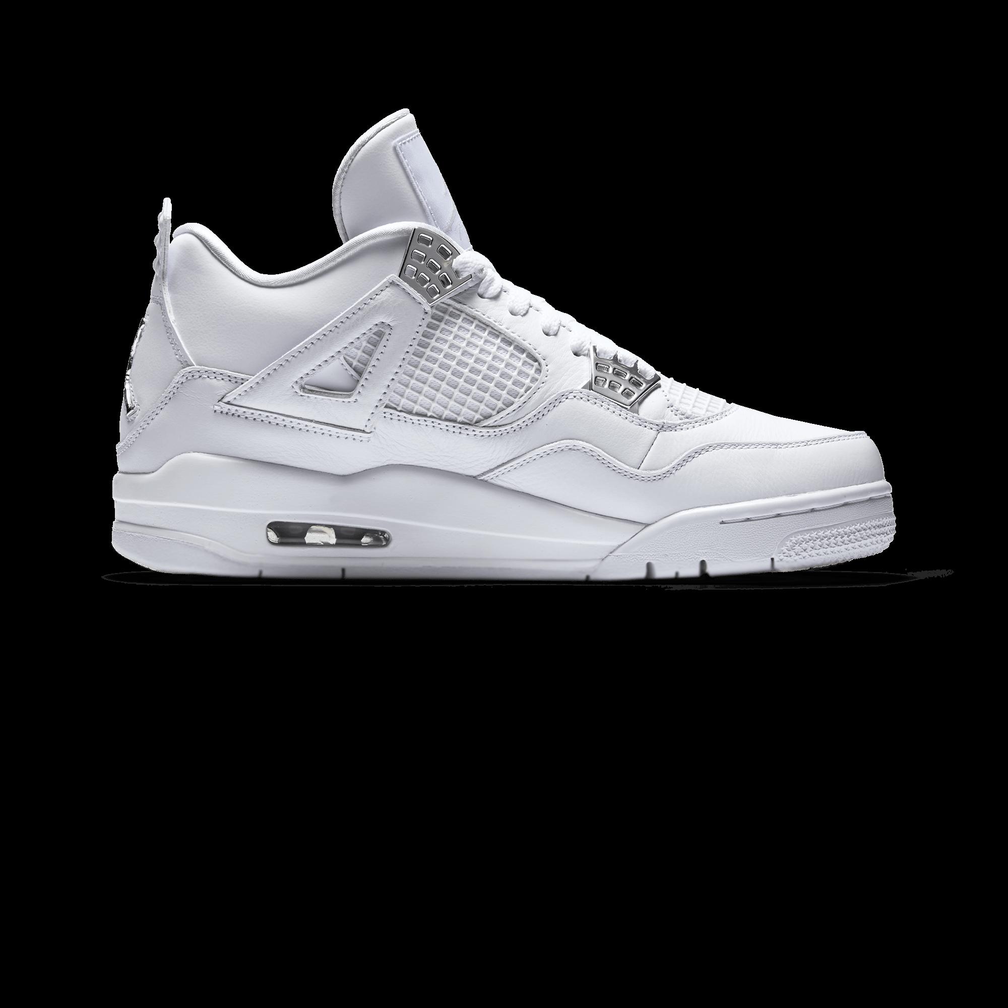 4 Retro Pure Money white/silver