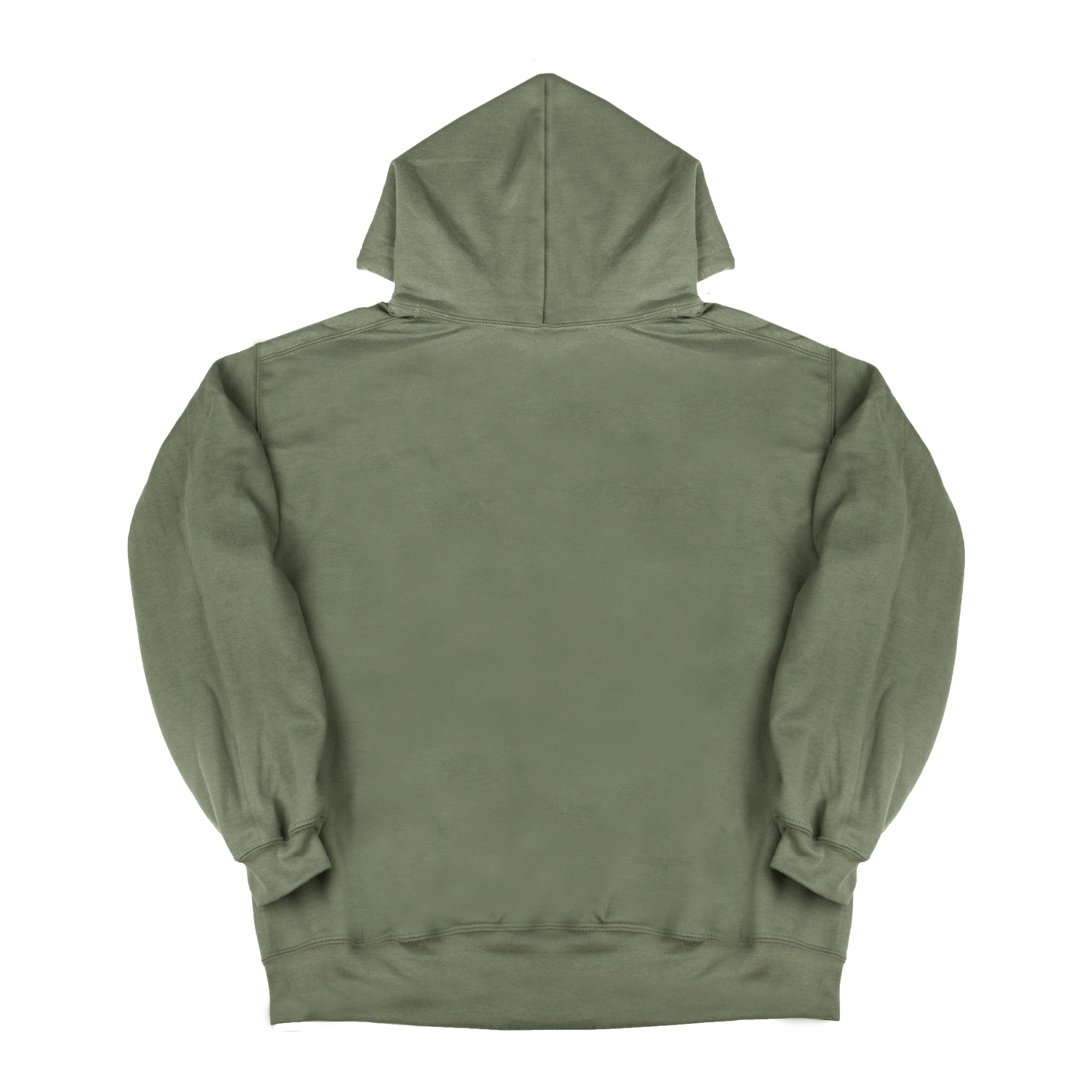 Hoodie Ask Your Mother military green/pink