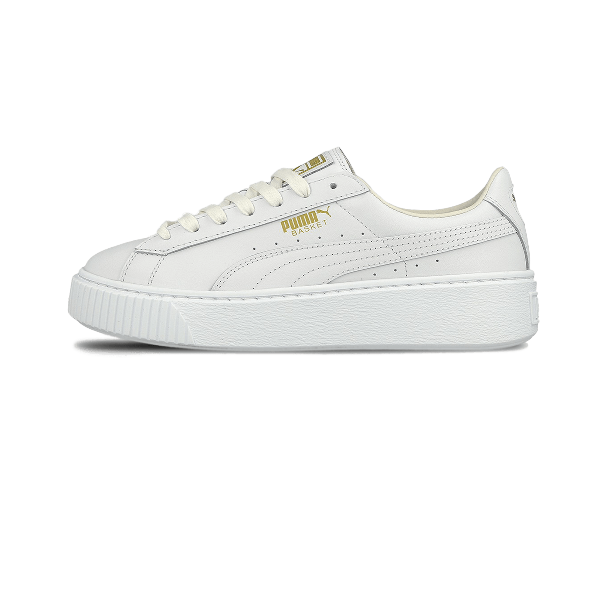new products 8b5f7 06198 Puma Basket Platform Core white/gold - Woman | Holypopstore.com