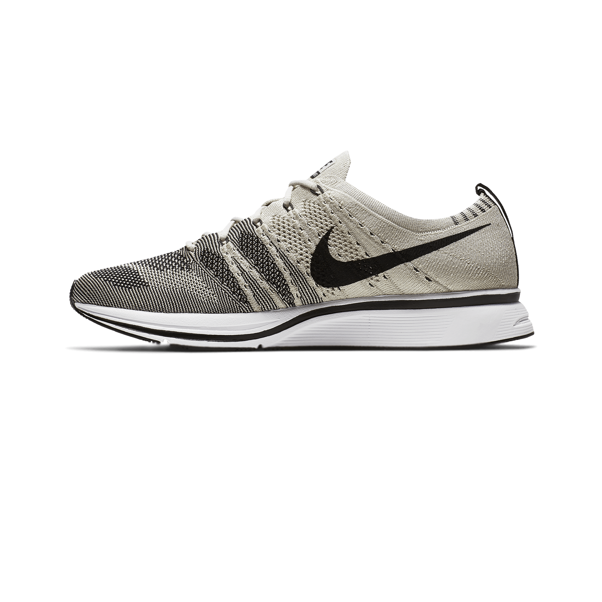 Flyknit trainer pale grey/black-white