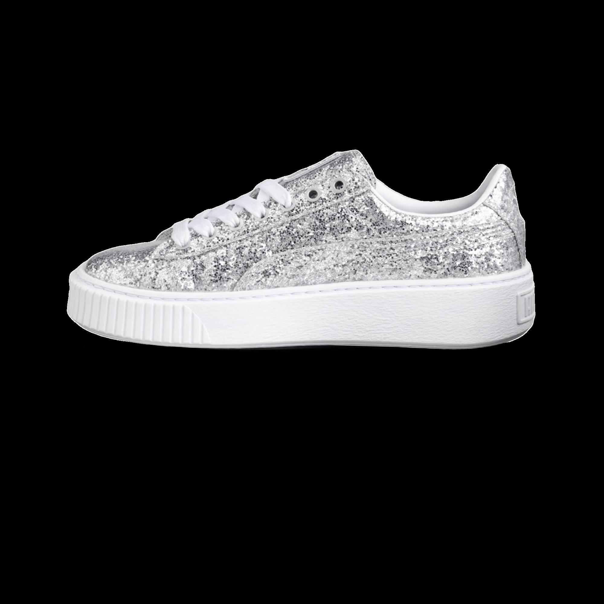 Basket Platform Glitter silver
