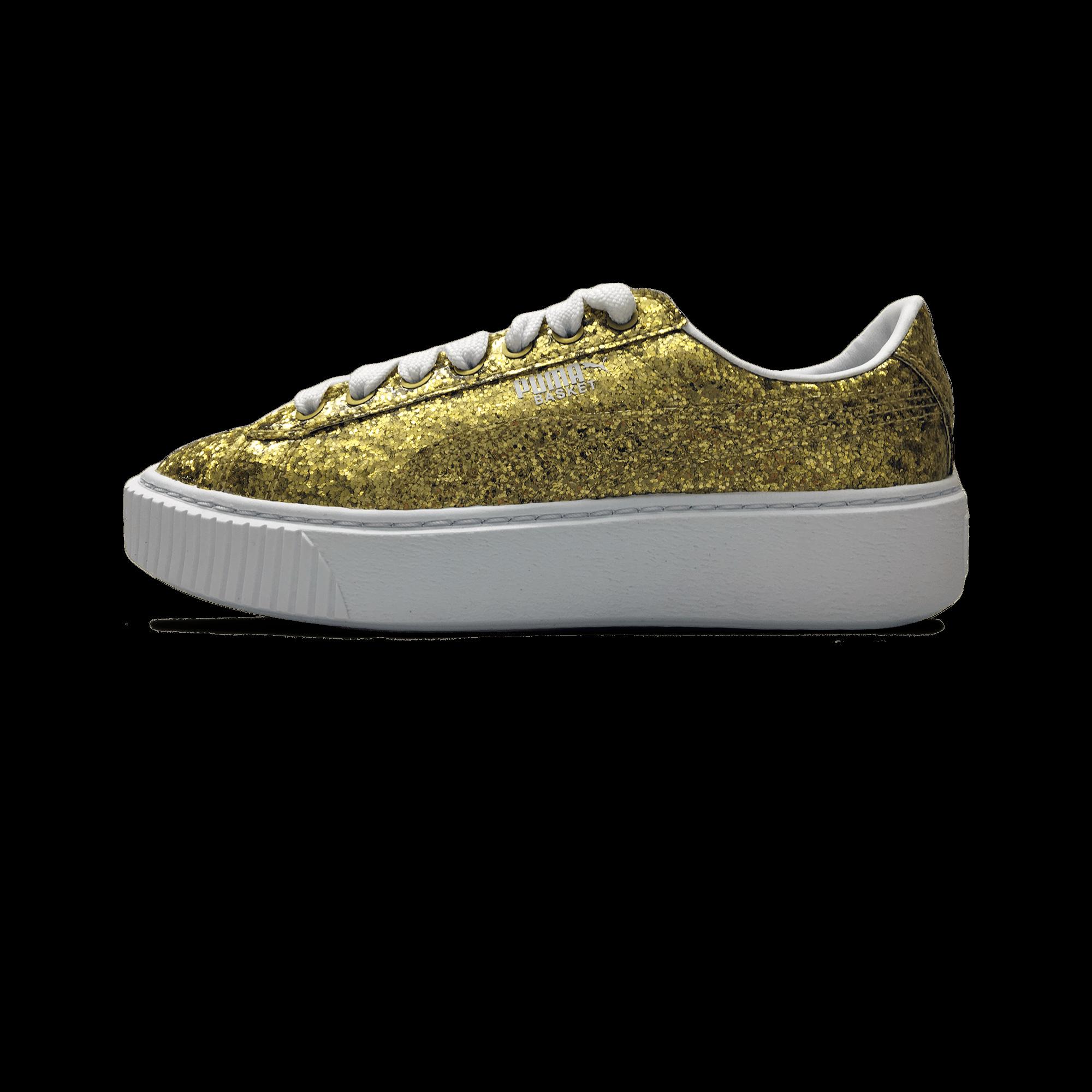 Basket Platform Glitter gold
