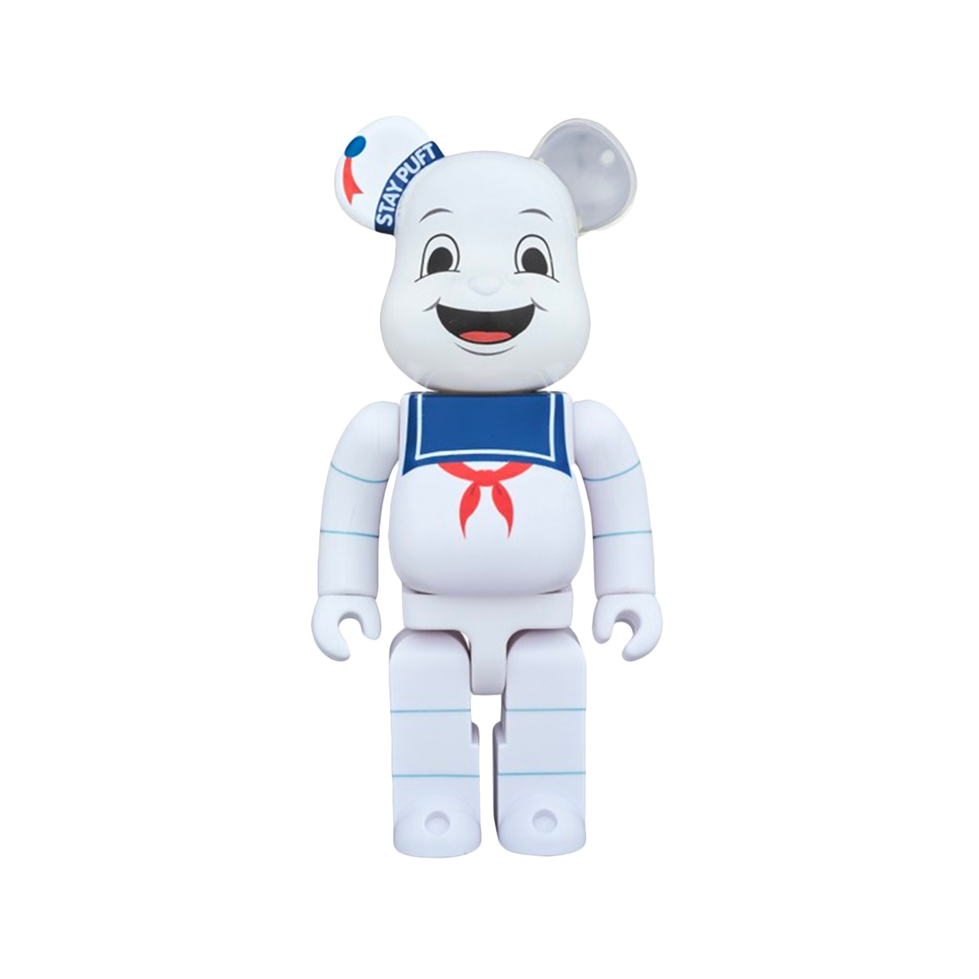 Be@rbrick 400% Stay Put Marshmallow Man white/blue/red
