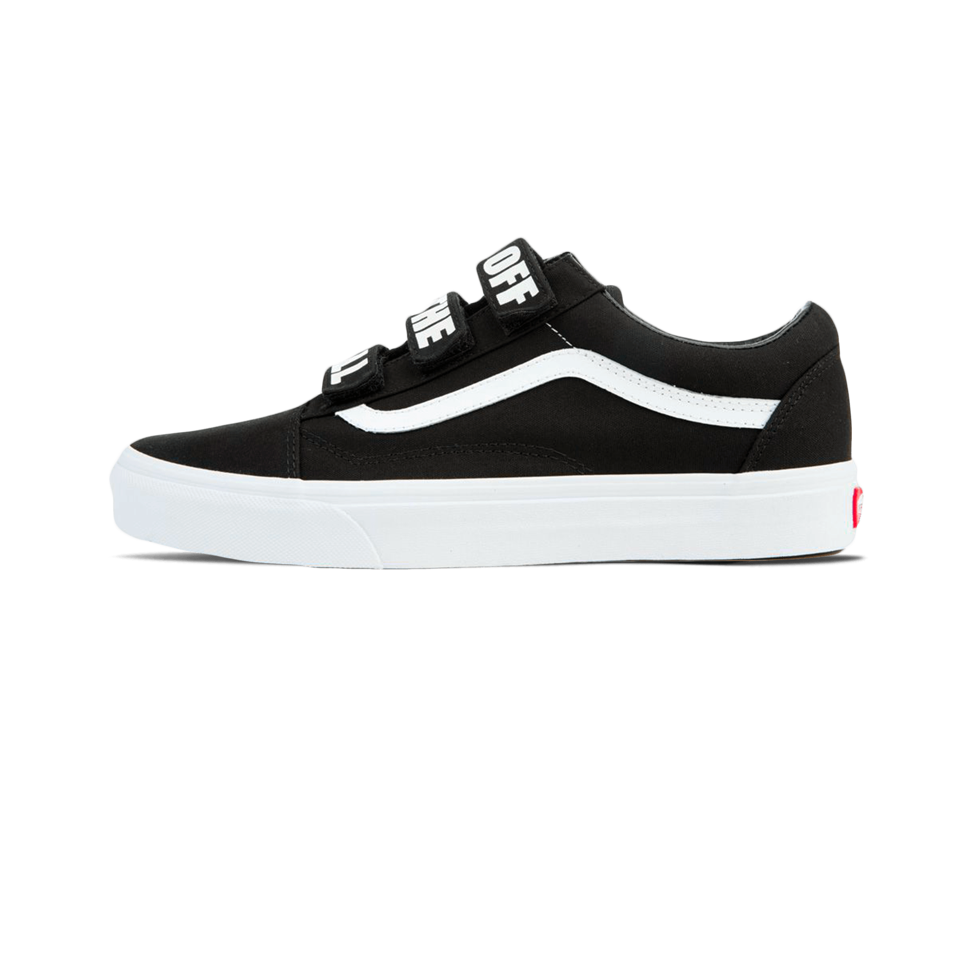 vans old skool v off the wall black unisex. Black Bedroom Furniture Sets. Home Design Ideas