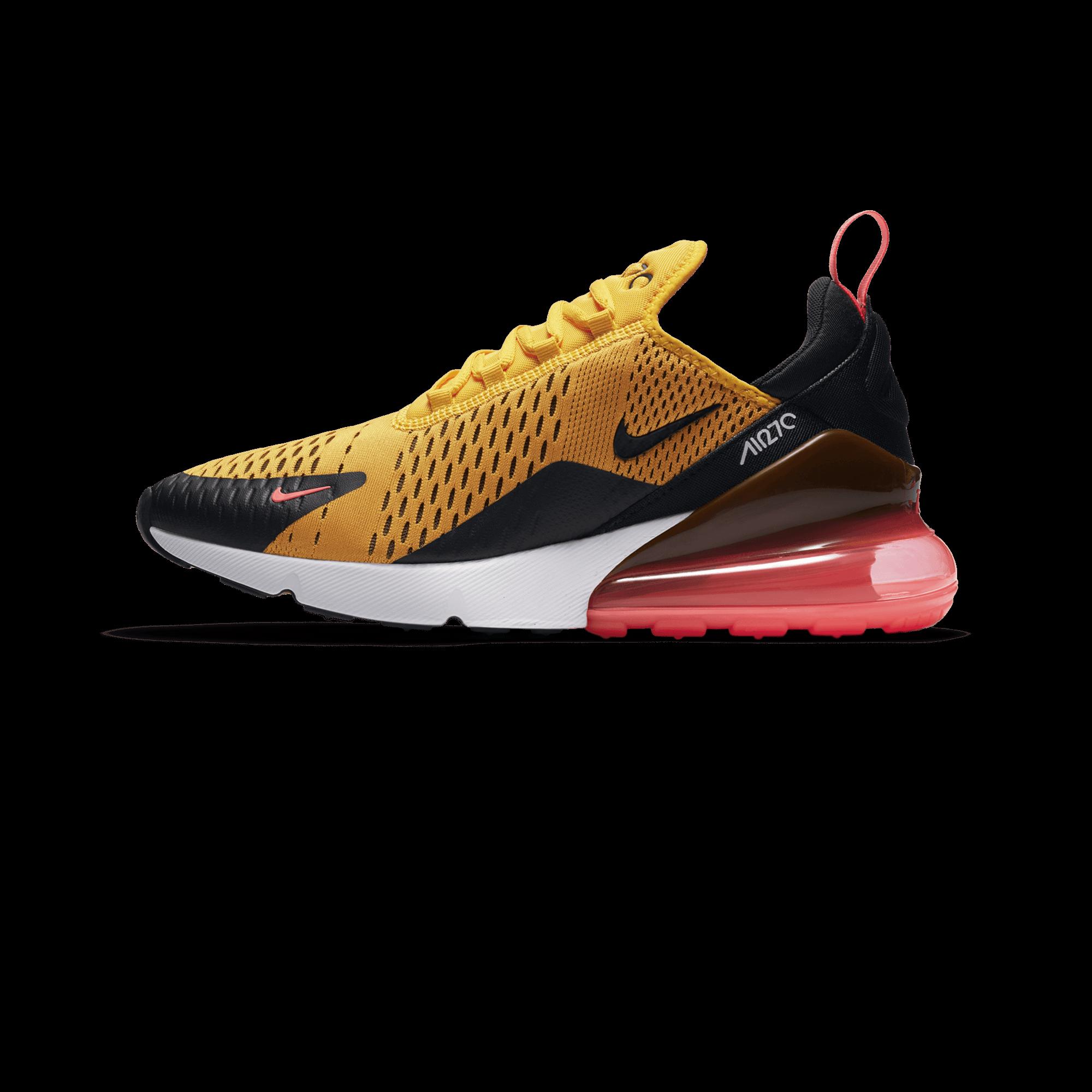 fb2cdd74b Nike Air Max 270 black / university gold / hot punch - Men ...