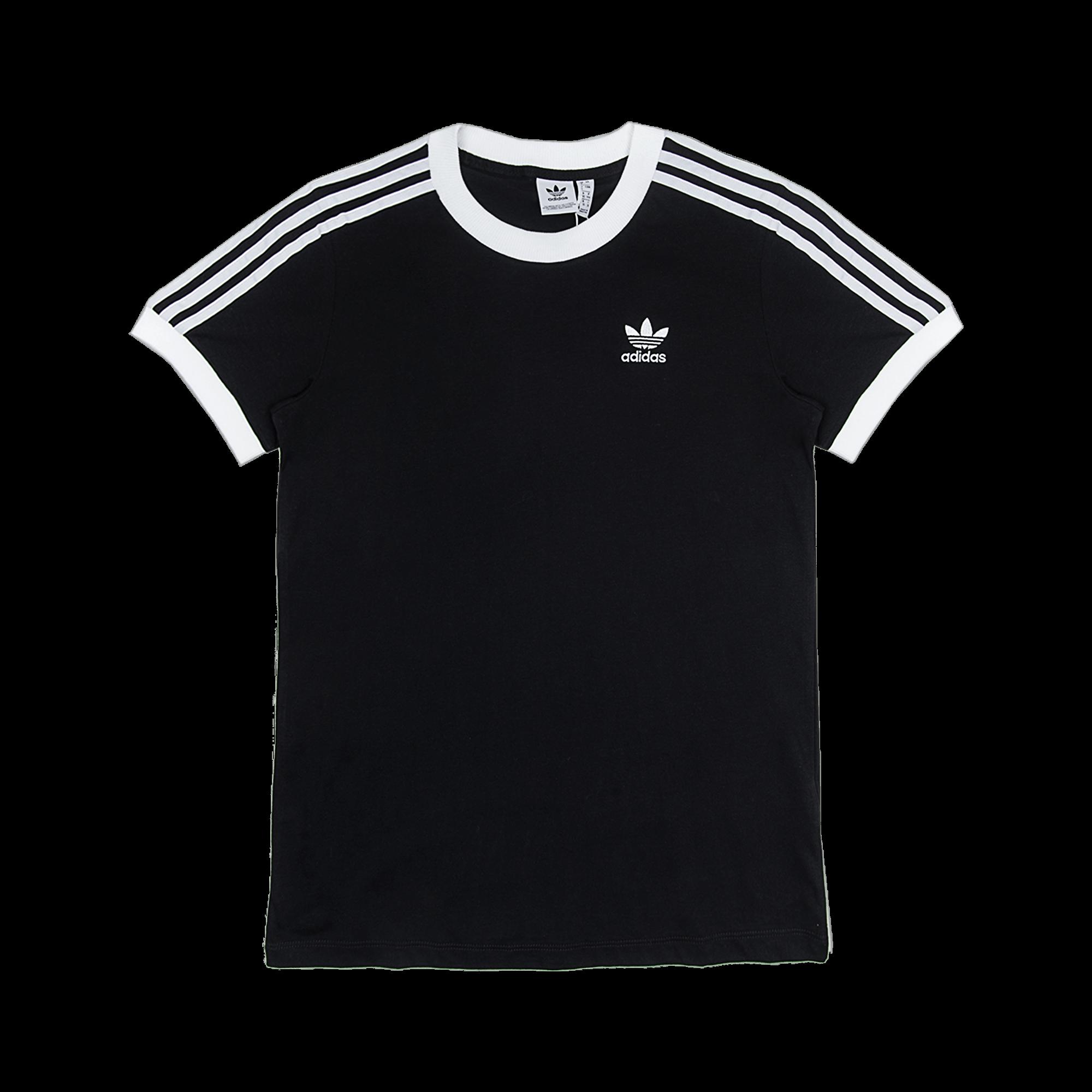 adidas 3 Stripes Tee black - T-shirt | Holypopstore.com
