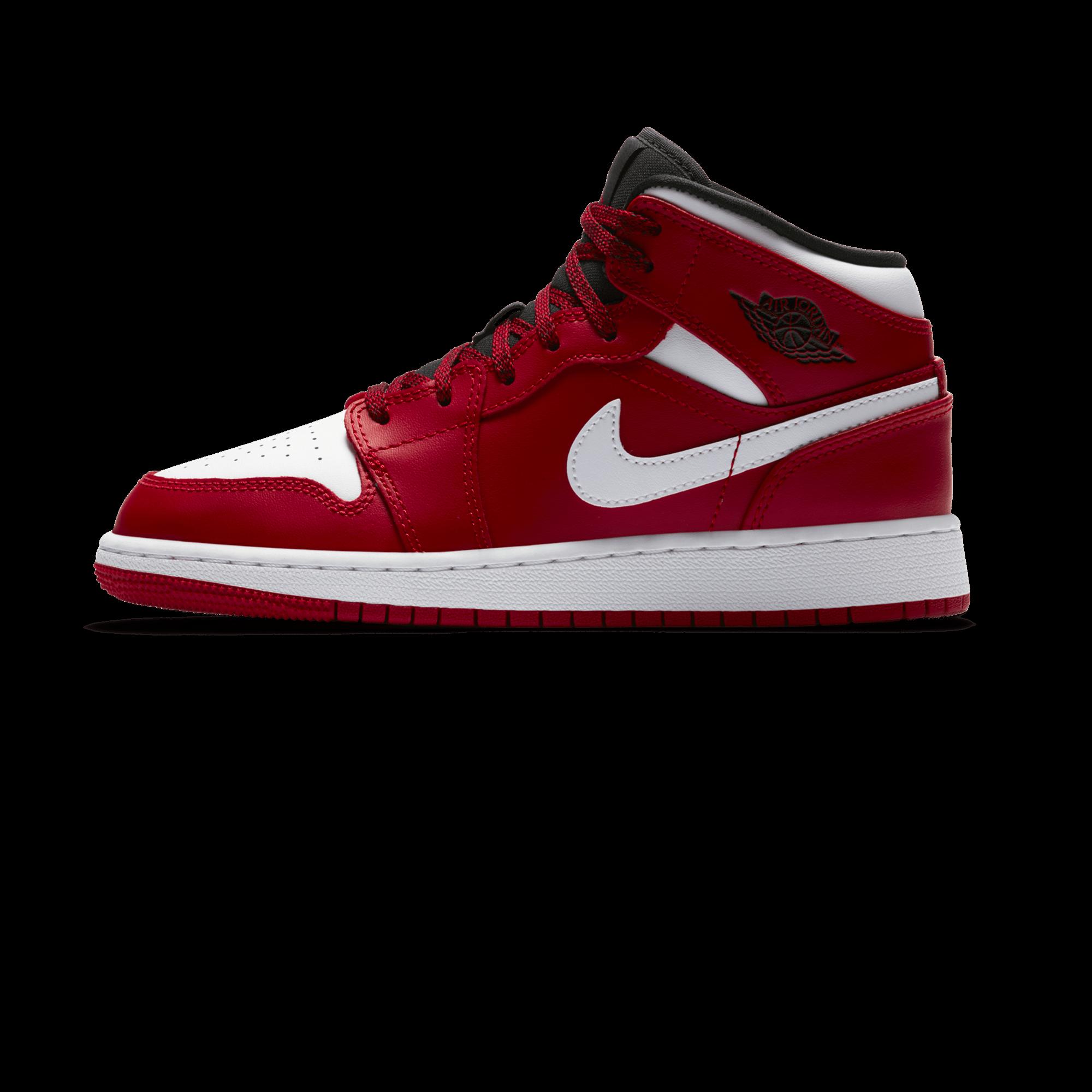separation shoes 06faf 40497 Air Jordan 1 Mid GS gym red / white / black - Kids | Holypopstore.com