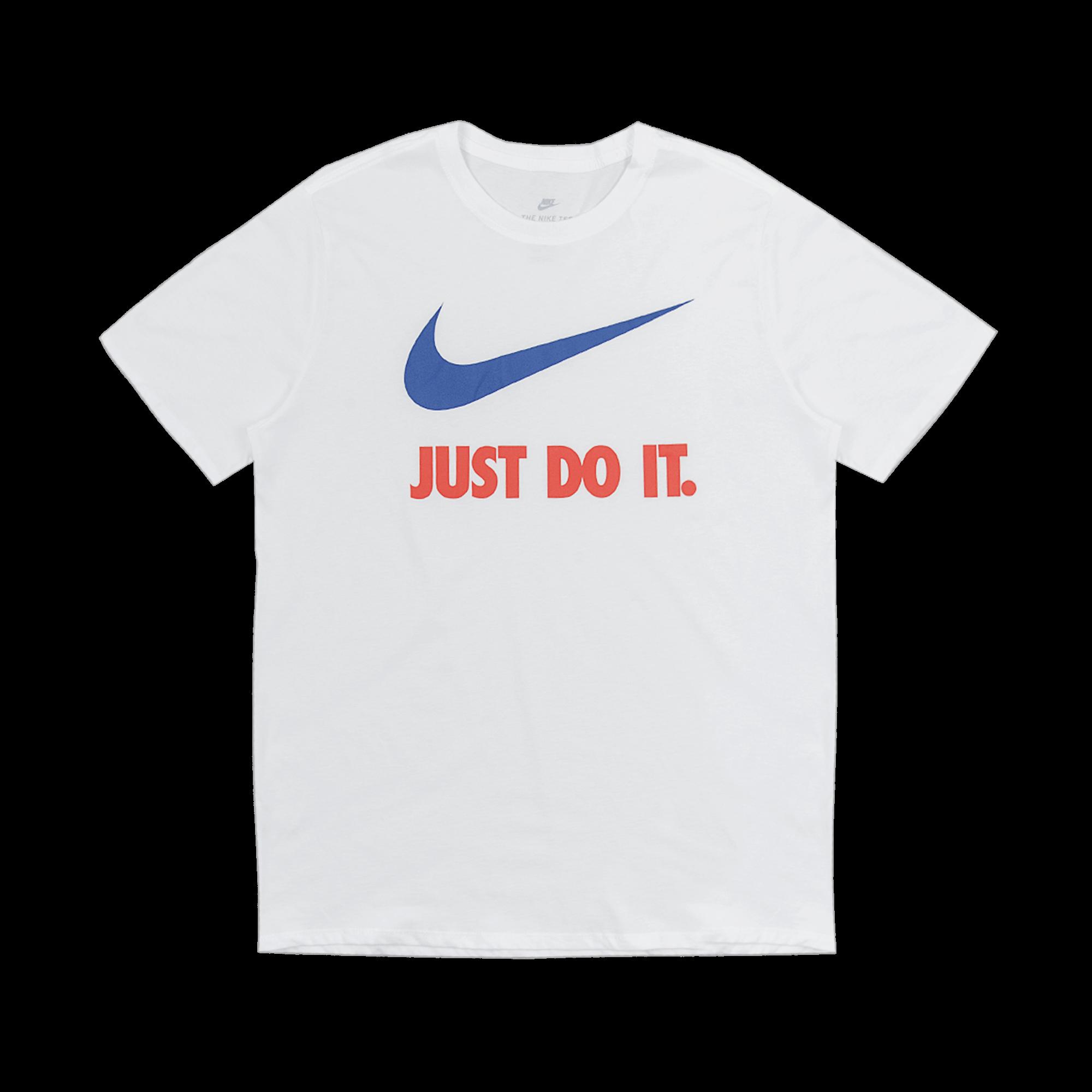 Nike Just Do It Swoosh T Shirt White Team Orange Team Royal