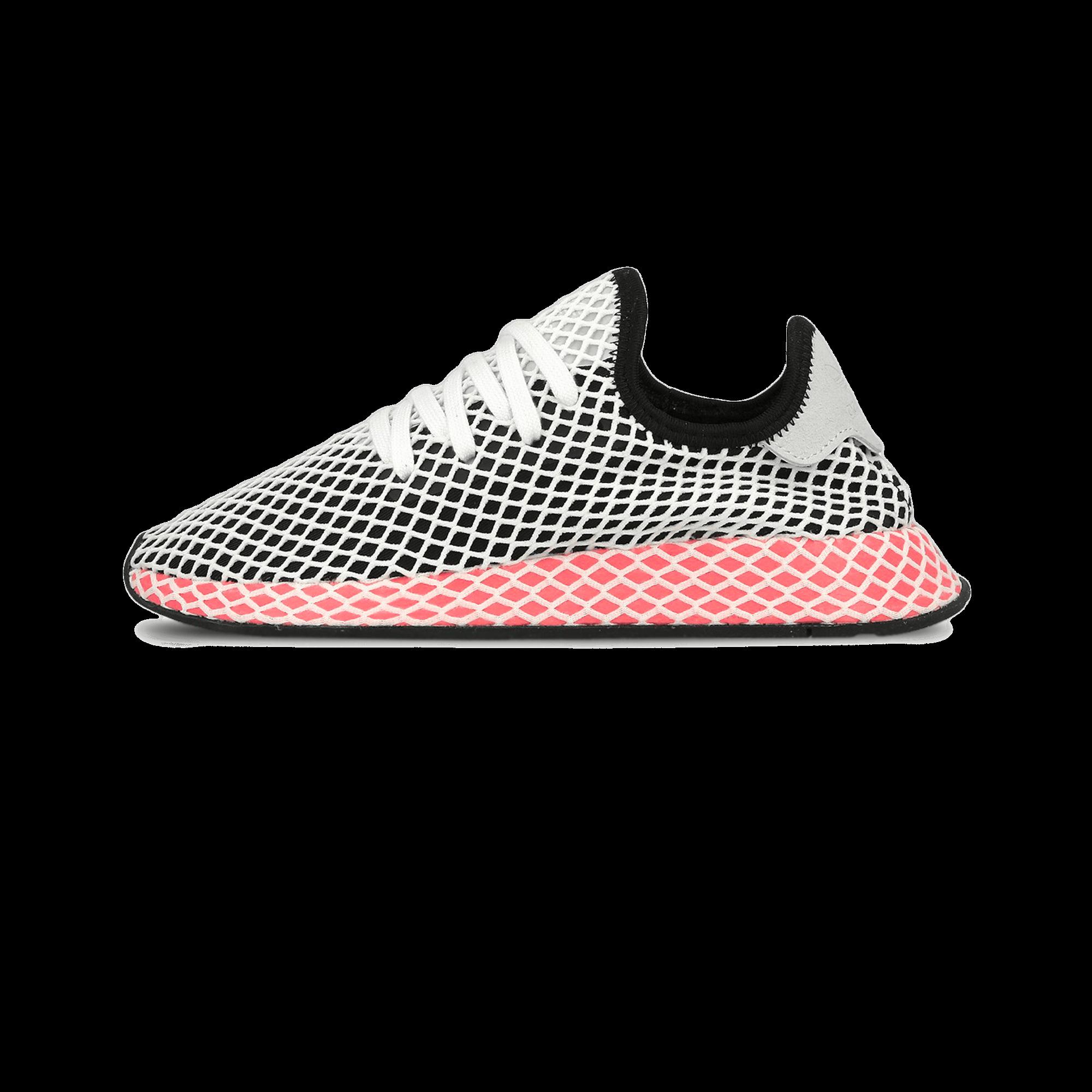 adidas deerupt runner w nucleo nero / gesso donna rosa