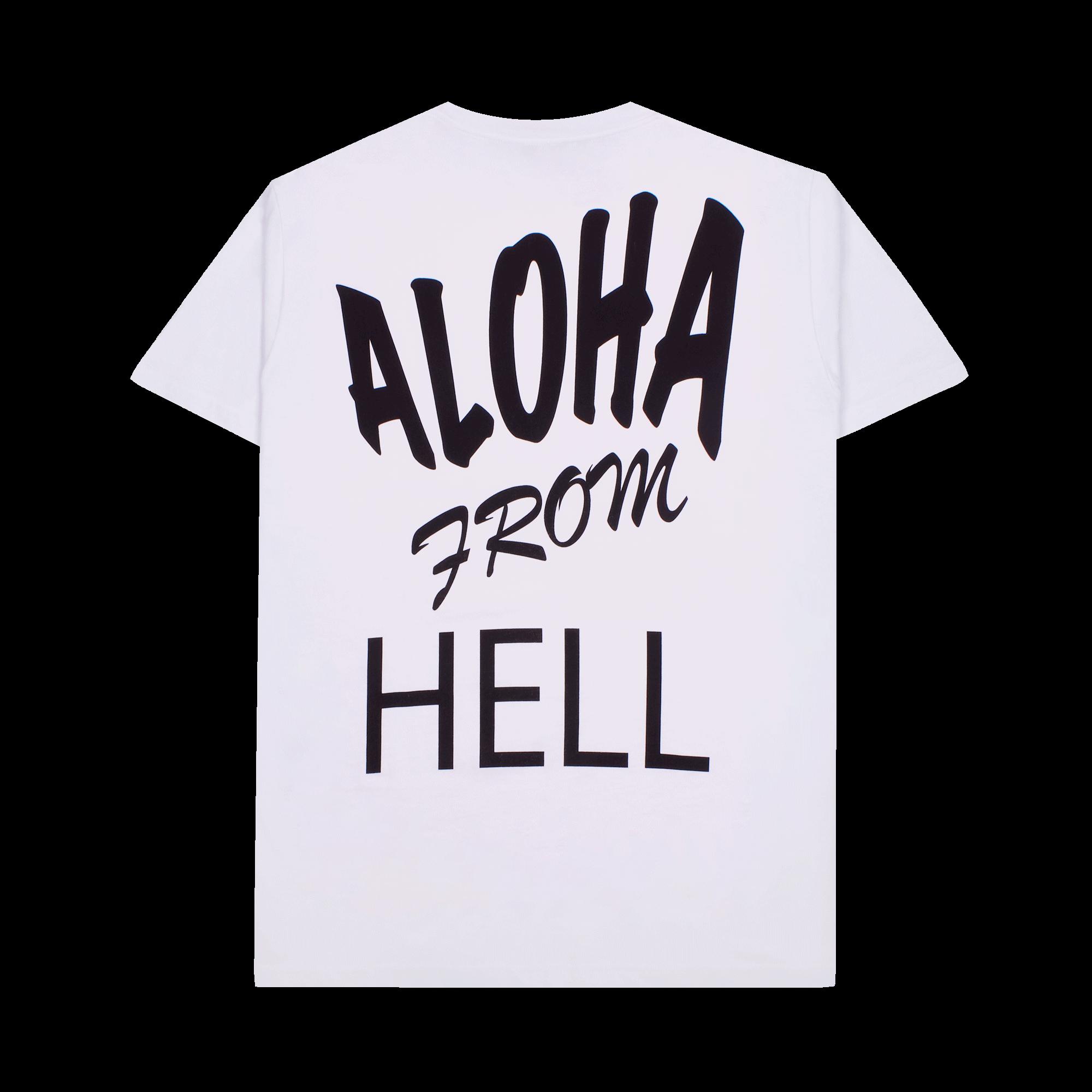 Basic Short Sleeve T Aloha From Hell white
