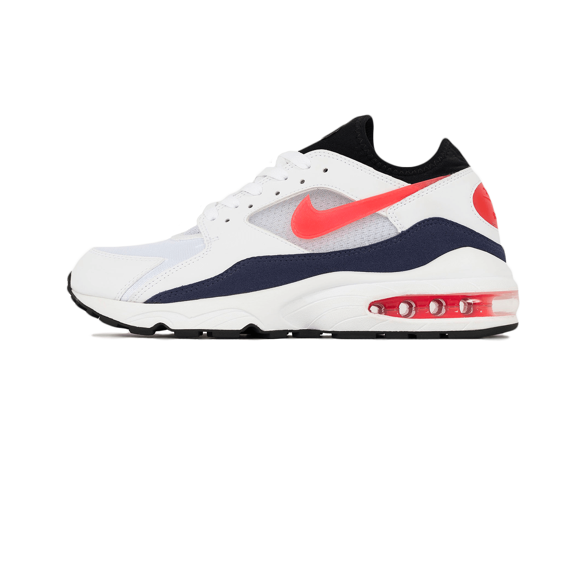 Nike Air Max 93 white habanero red neutral indigo Men |
