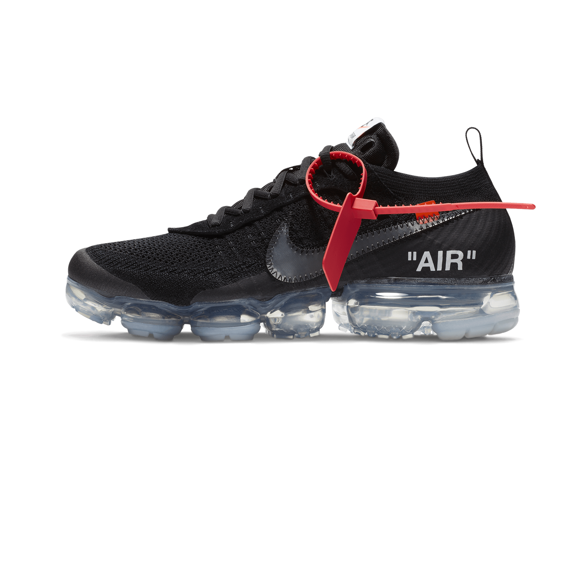 Off-White x Air VaporMax black / clear total orange