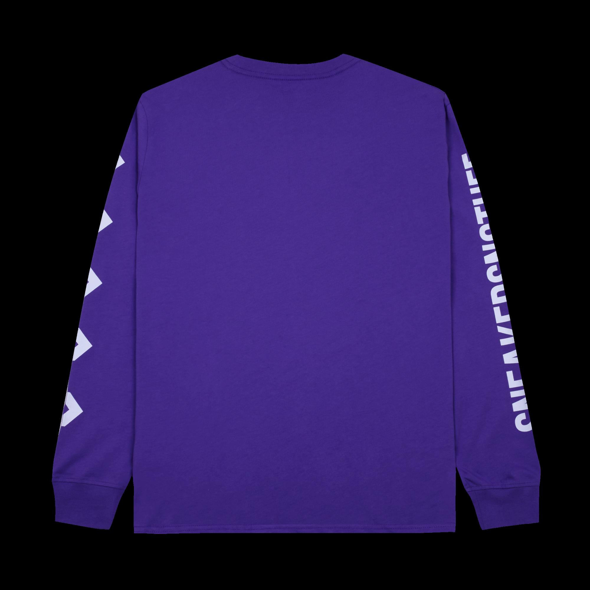 L/S Tee x Sneakersnstuff deep lavender