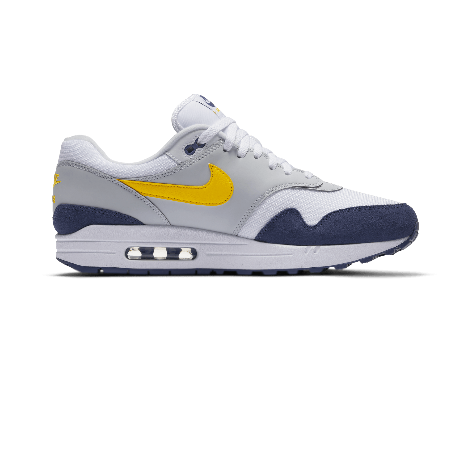 Air Max 1 white / tour yellow / blue recall