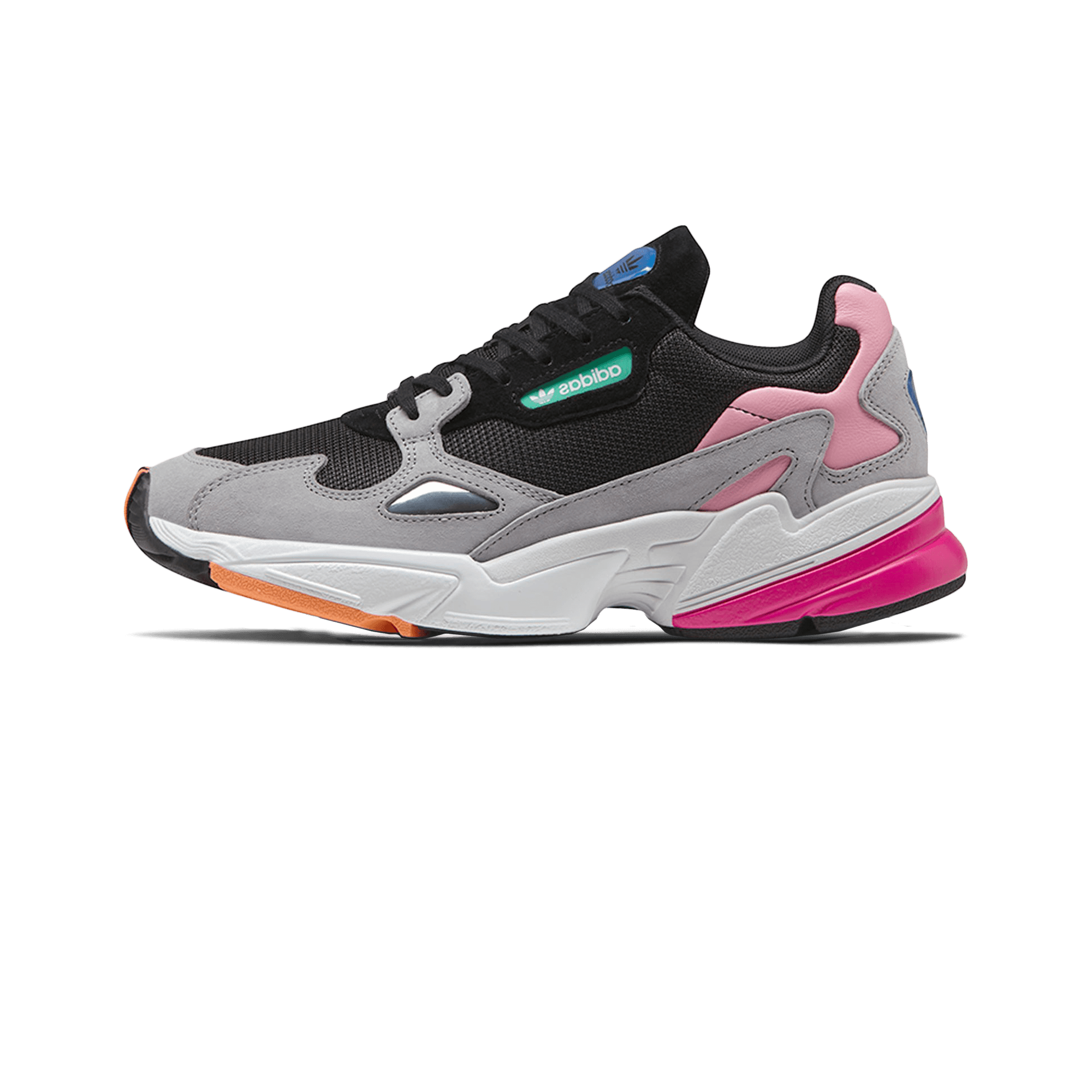 adidas Falcon W core black / light granite - Donna | Holypopstore.com