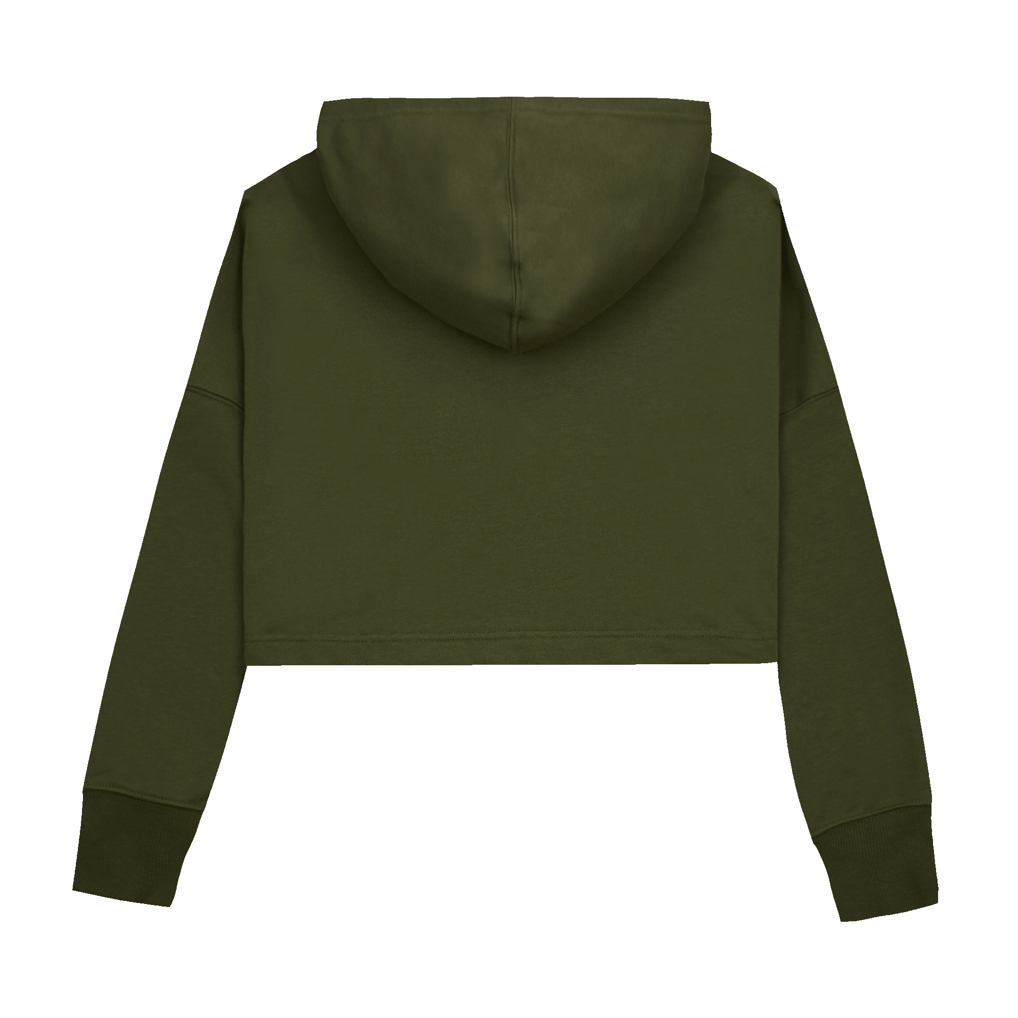SC Cropped Hoodie  military green