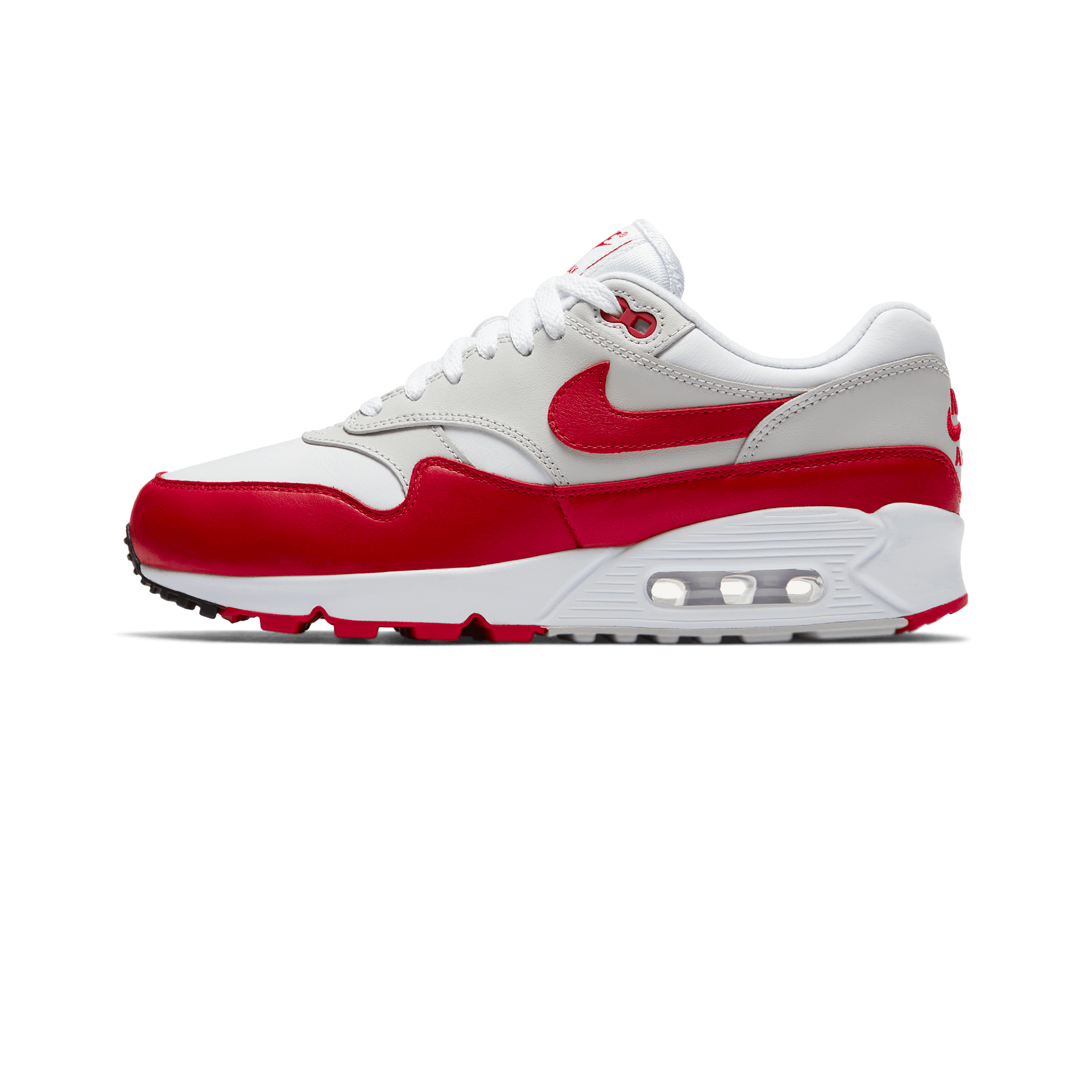 top fashion authentic quality new design Nike Air Max 90/1 white / university red - Woman | Holypopstore.com