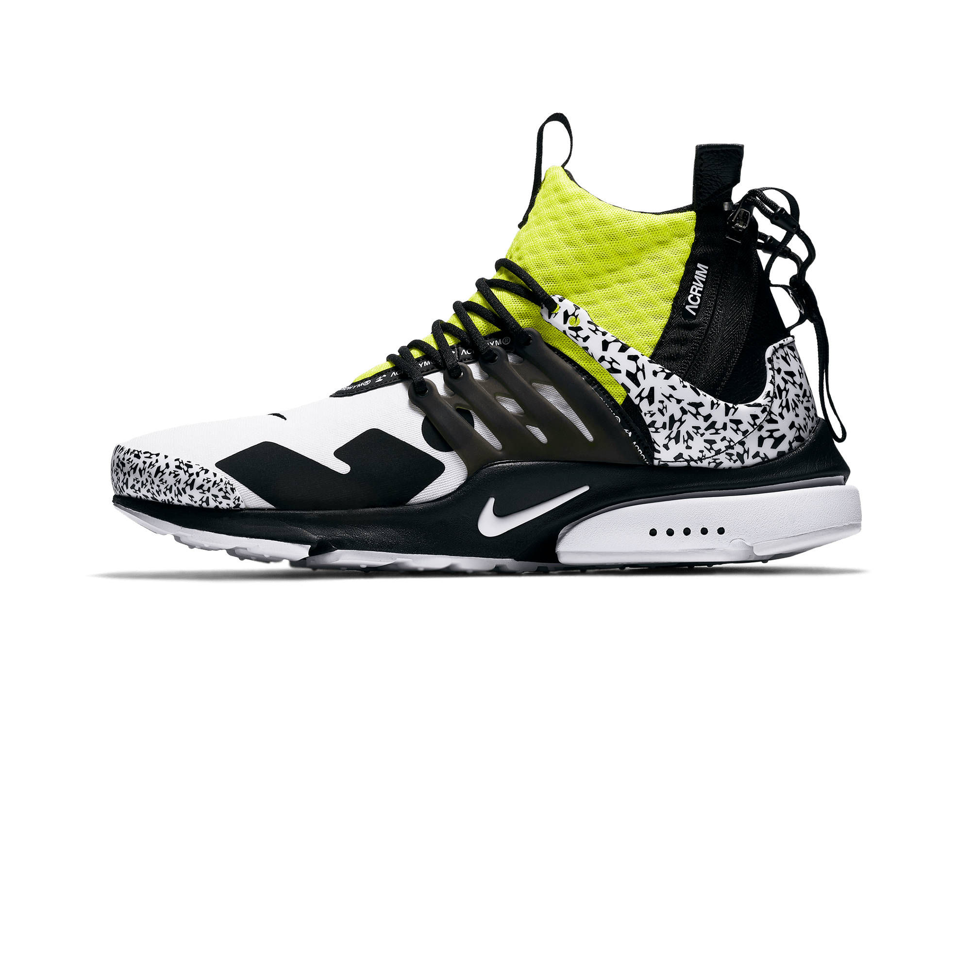 no sale tax top quality great deals 2017 Nike Air Presto Mid X Acronym white/black/dynamic yellow - Men |  Holypopstore.com