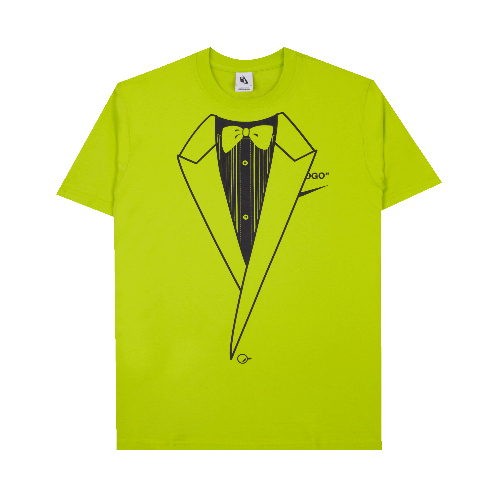 shopping hot products price reduced NikeLab NRG AG Tee x Off White volt / black - T-shirt | Holypopstore.com
