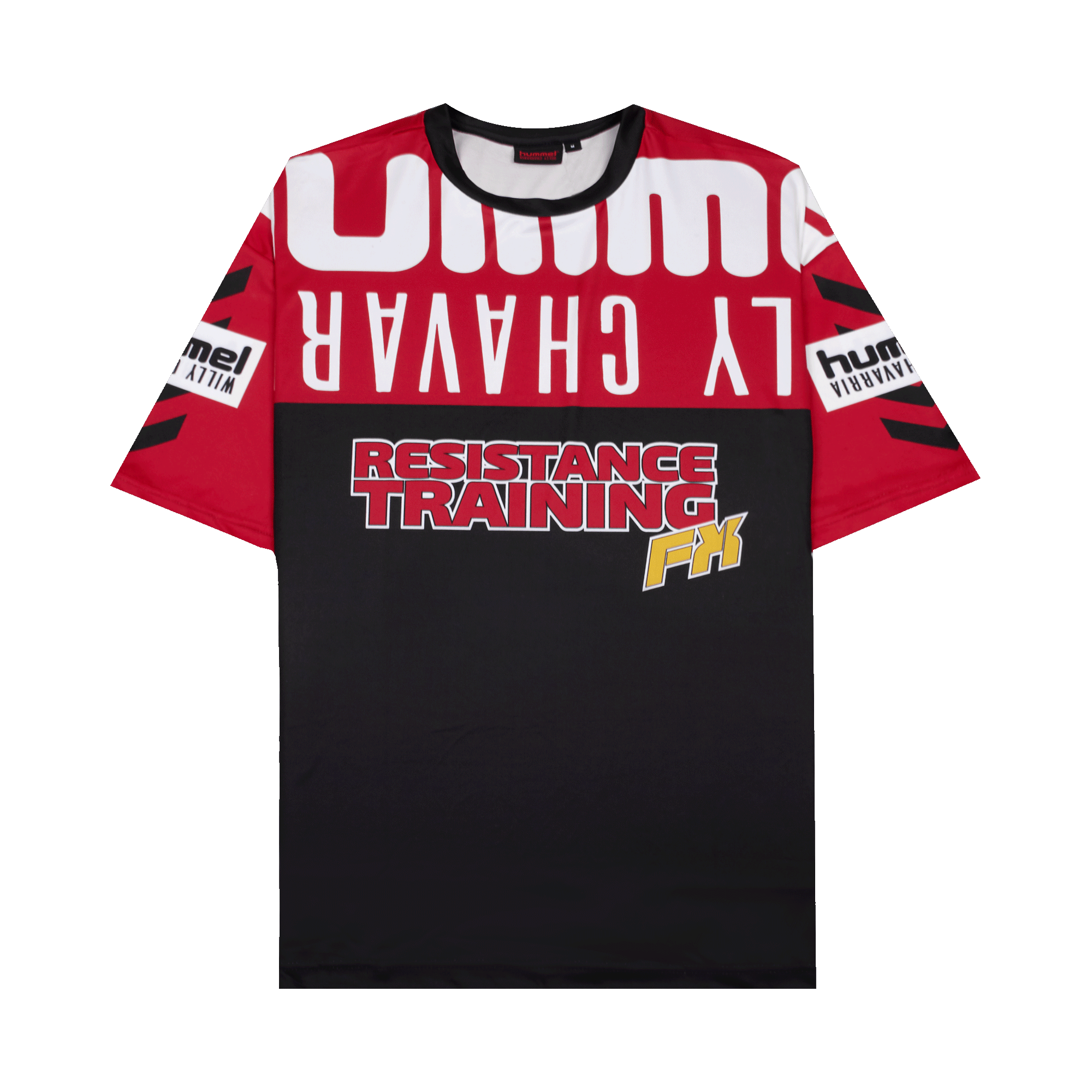 oryginalne buty kupuję teraz najnowszy projekt Hummel Resistance Training T-Shirt x Willy Chavarria black / red - T-shirt  | Holypopstore.com