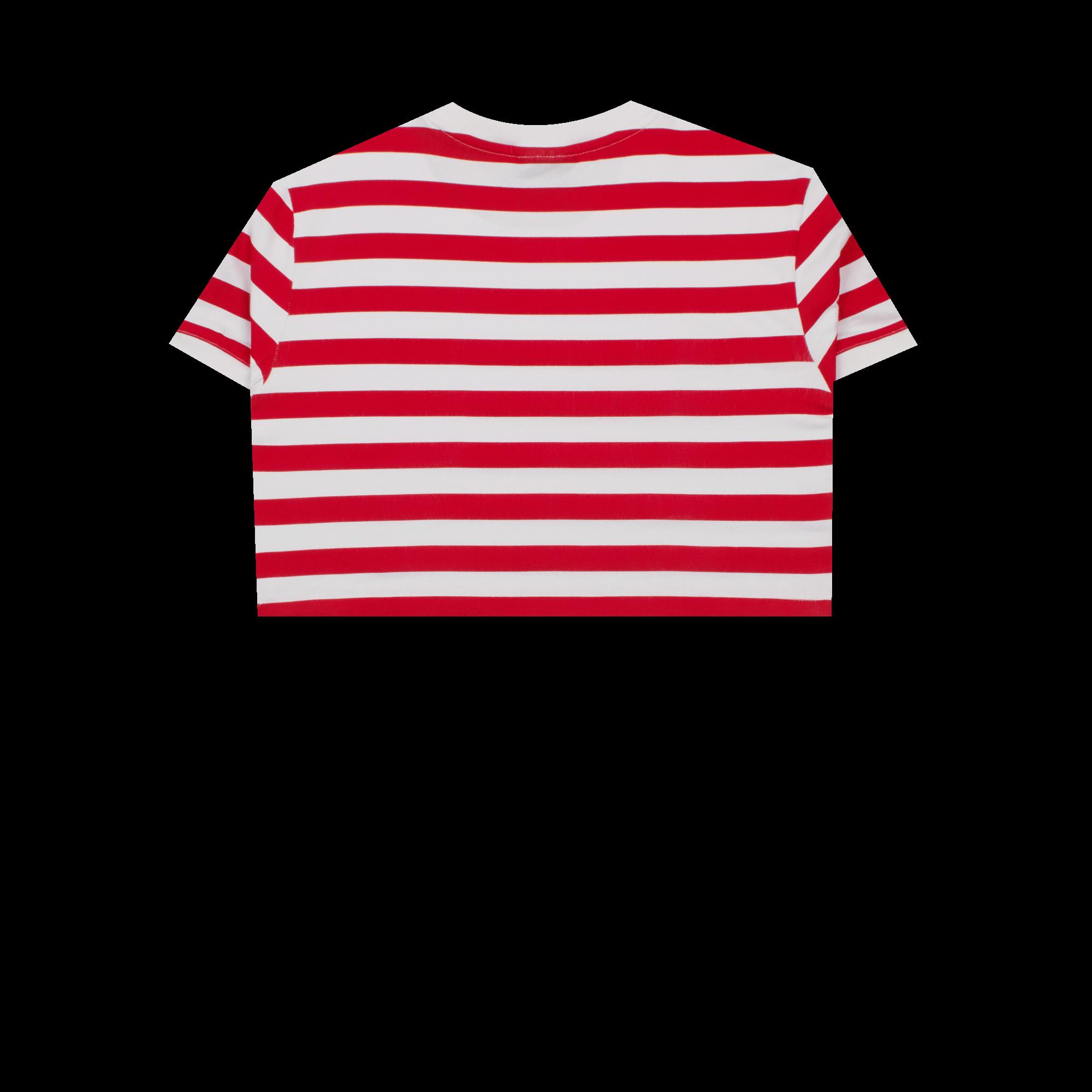 Fiorucci Crop Tee white / red