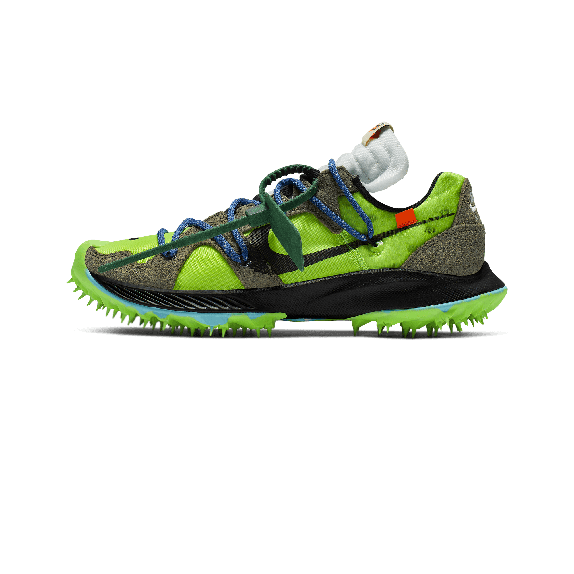 Nike Nike x Off-White W Zoom Terra Kiger 5 electric green / metallic silver  / sail - Donna | Holypopstore.com
