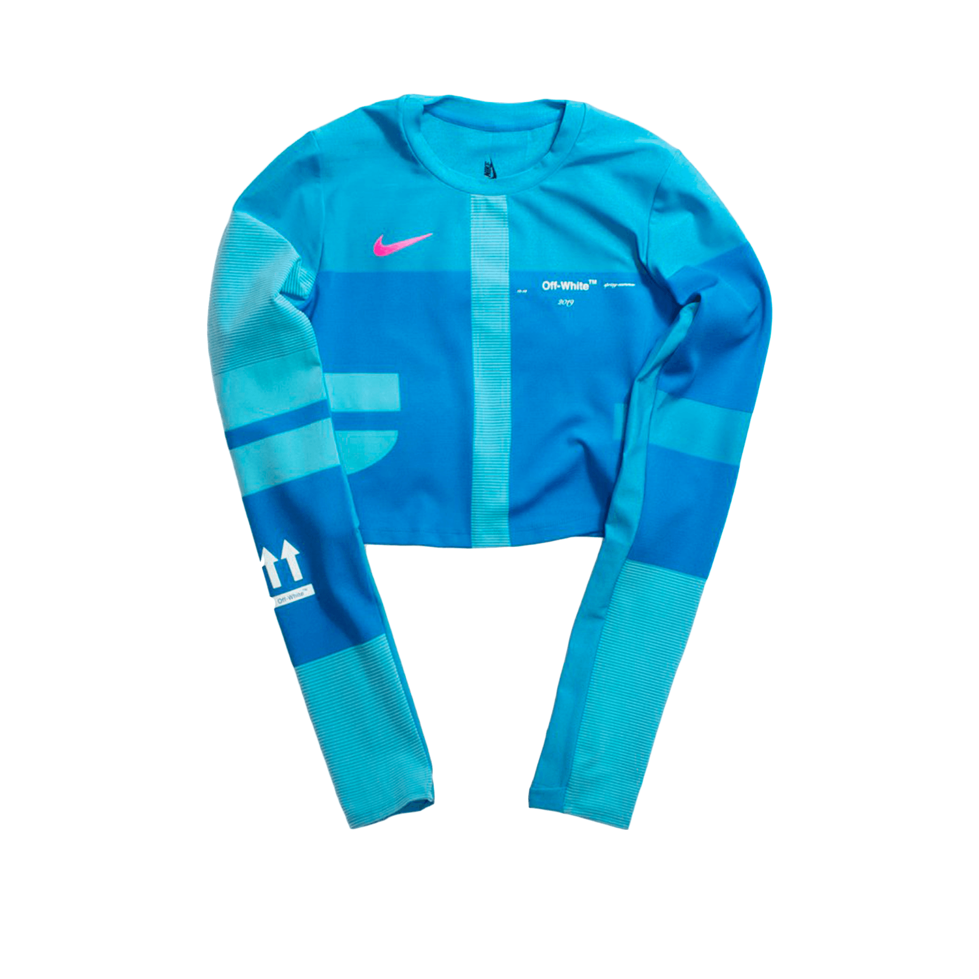 official photos new authentic buy best Nike W Easy Run Top x Off-White photo blue - Top | Holypopstore.com