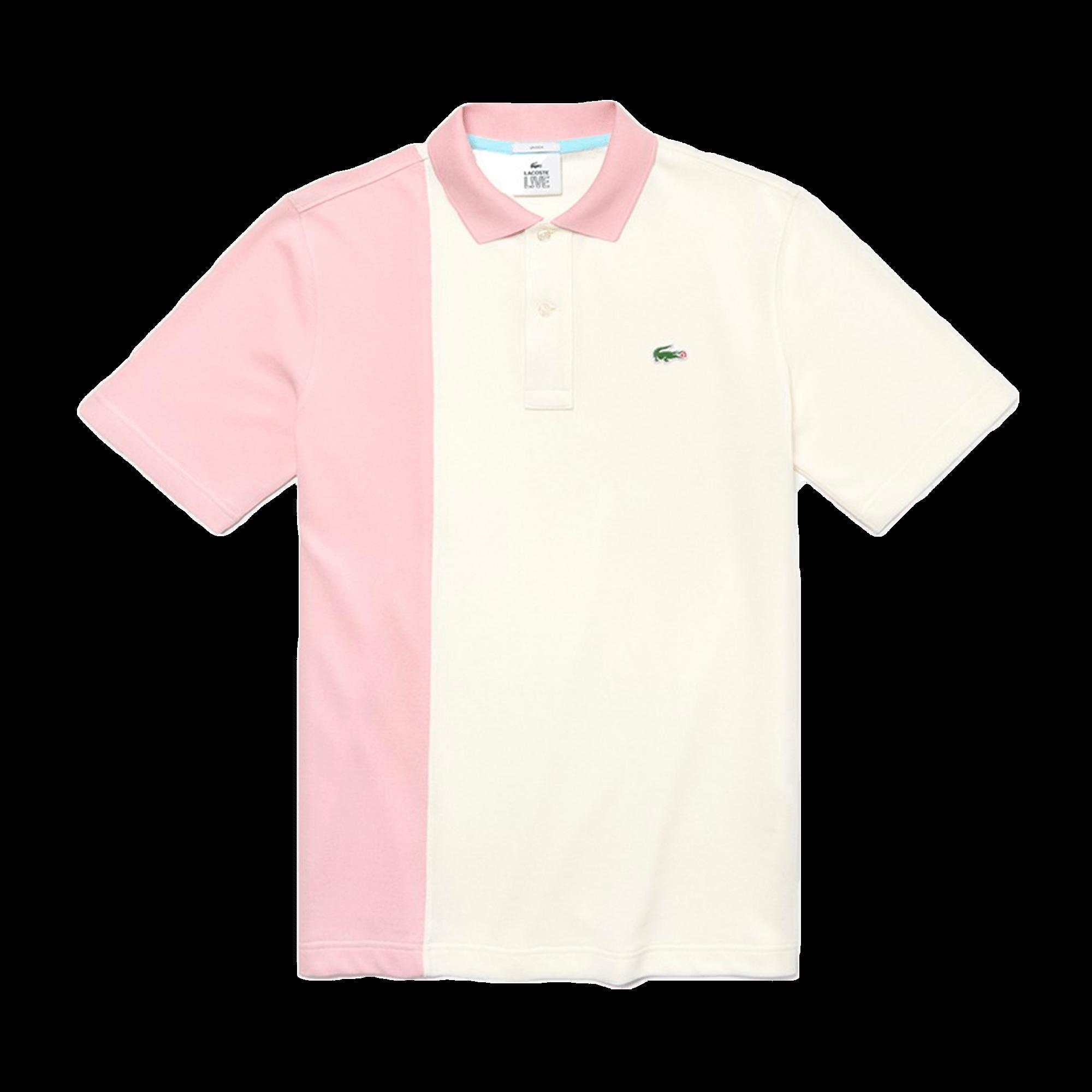 best loved 4d8ee a6297 Lacoste Golf Le Fleur x Lacoste Polo Shirt white / pink - T-shirt |  Holypopstore.com