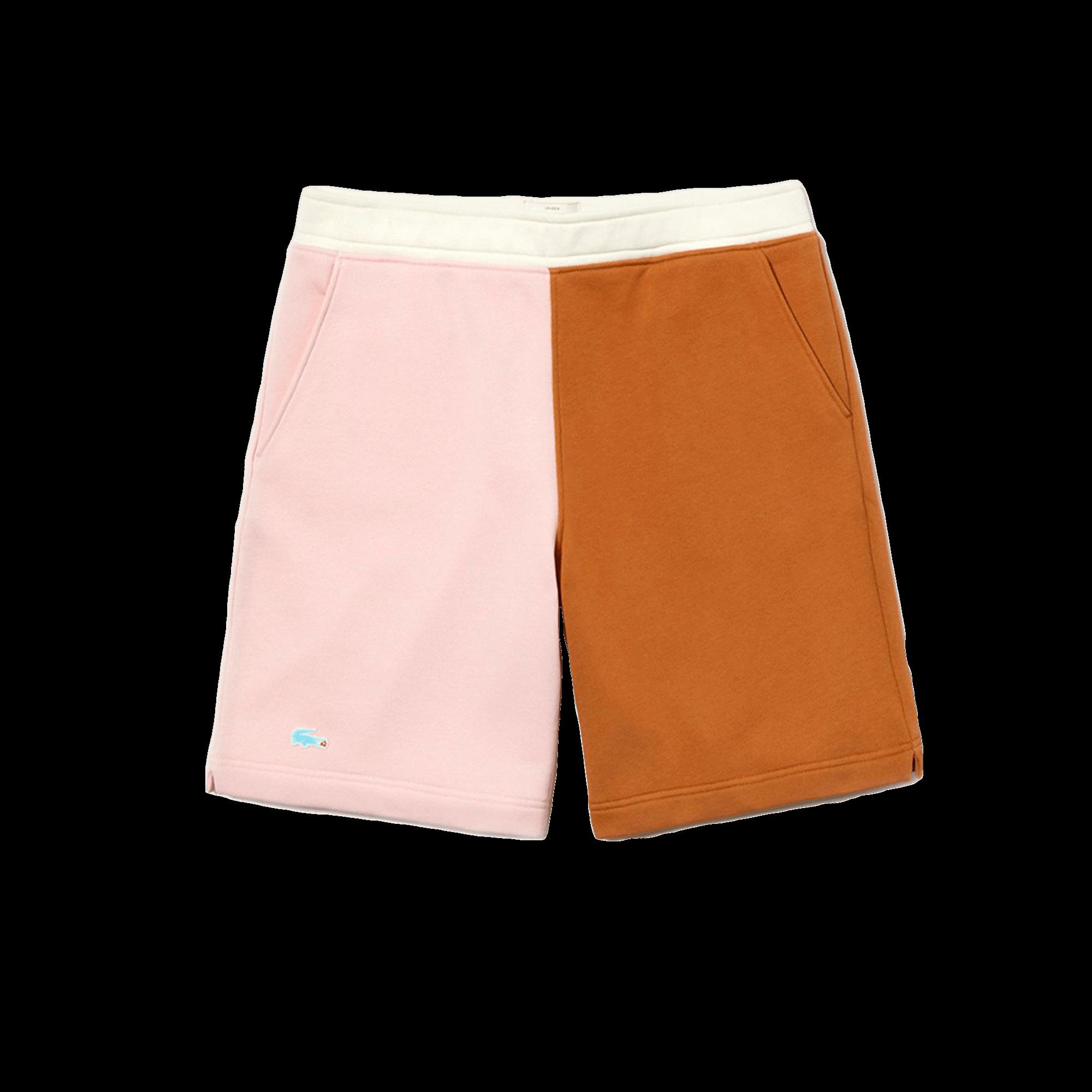 autentico 6e211 a24e5 Lacoste Golf Le Fleur x Lacoste Bermuda Shorts white / pink / light brown -  Pantaloni corti | Holypopstore.com