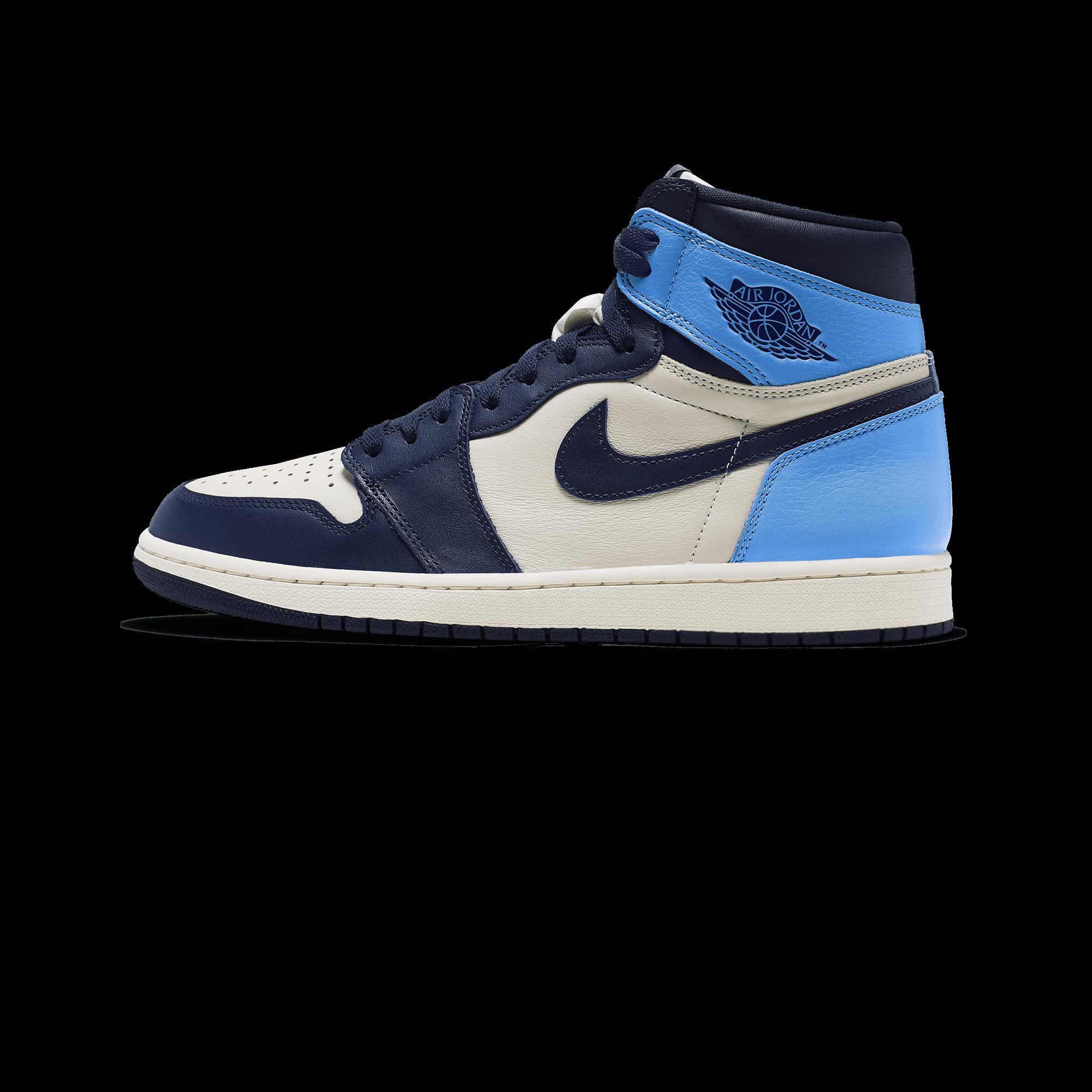 half off 0d284 b04ac Air Jordan Jordan 1 Retro High OG sail / obsidian / university blue - Uomo  | Holypopstore.com